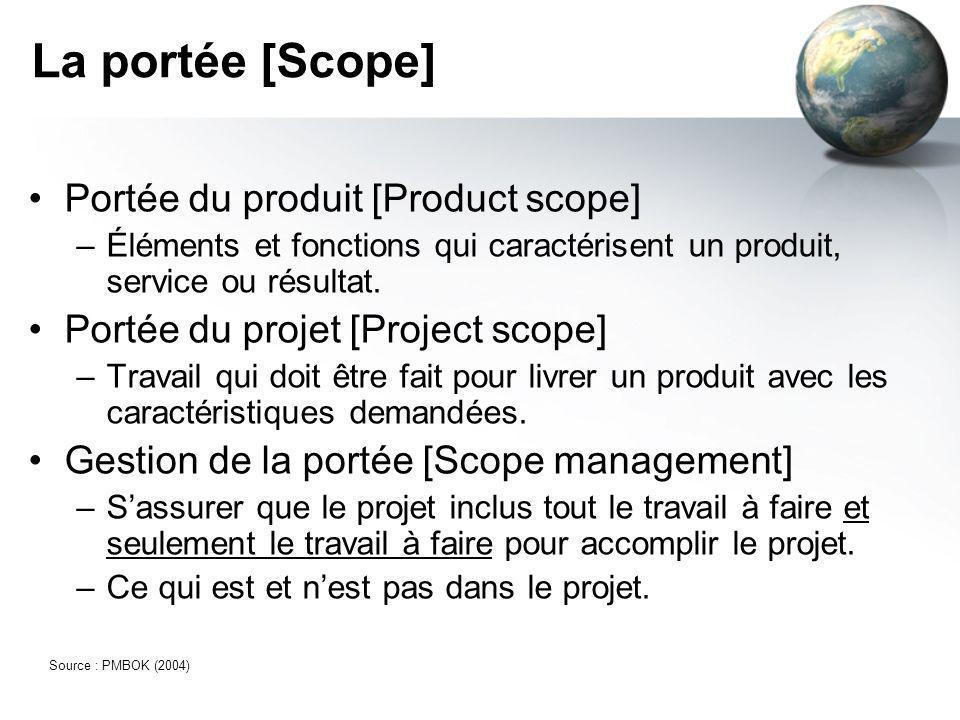La portée [Scope] Portée du produit [Product scope]